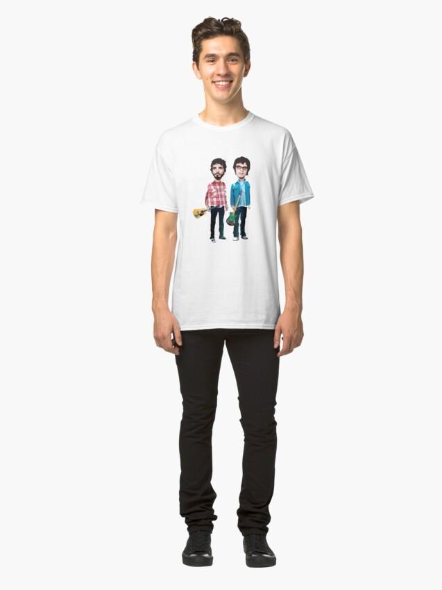 Vista alternativa de Camiseta clásica Vuelo de los Conchords