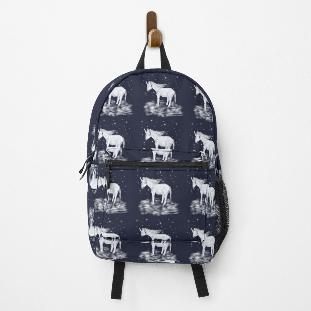 Whimsical Unicorn and Stars Design Backpack
