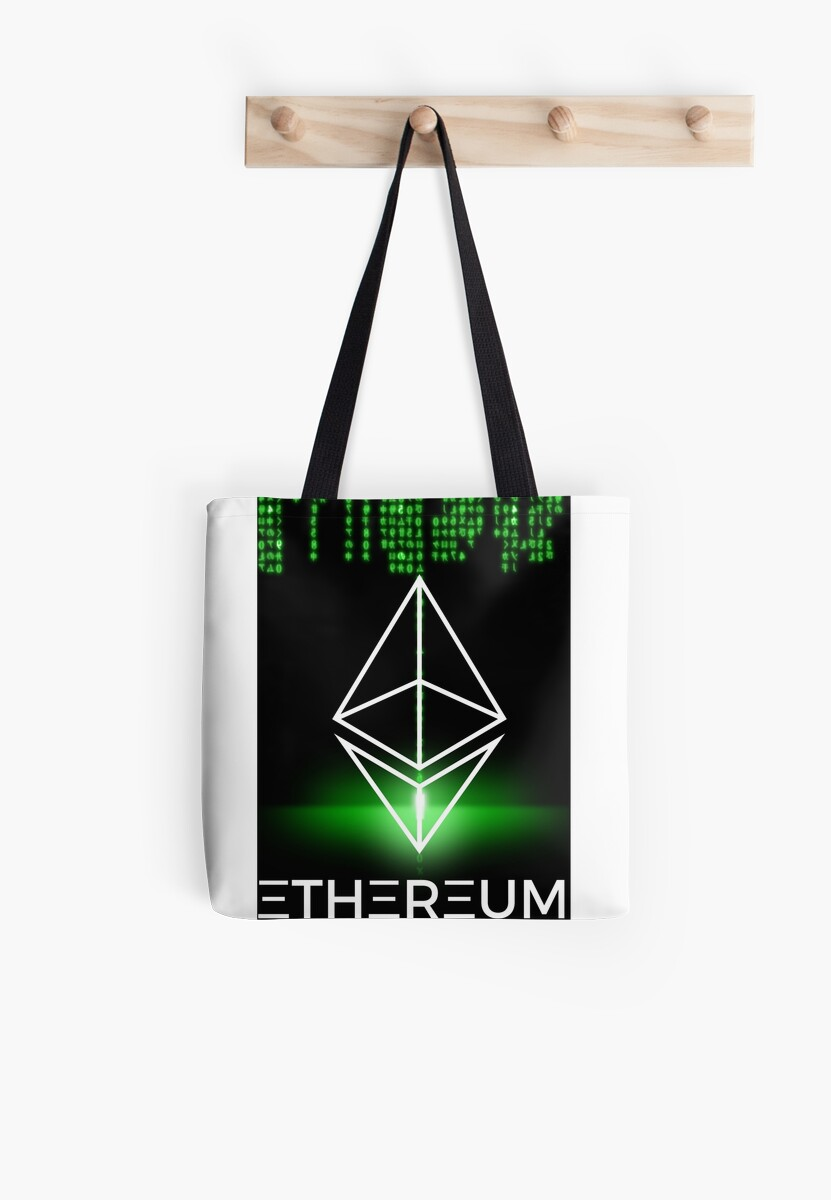 Ethereum logo symbol green coding tote bags by mikeblue7 redbubble ethereum logo symbol green coding by mikeblue7 buycottarizona Gallery