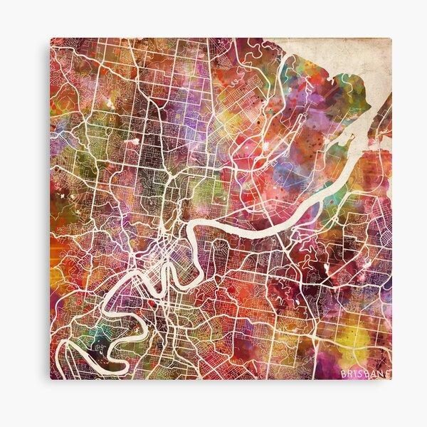 Brisbane map Canvas Print
