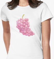 Red Grape ~ Watercolor Painting Womens Fitted T-Shirt