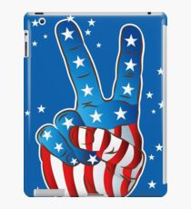 Amerikanischen patriotischen Victory Peace Hand Finger Zeichen iPad-Hülle & Klebefolie