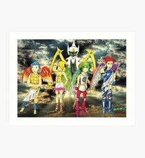 Pokémon + Shin Megami Tensei - Law Poster Art Print
