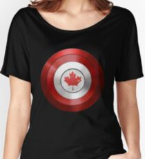 CAPTAIN CANADA - Captain America inspired Canadian shield Women's Relaxed Fit T-Shirt