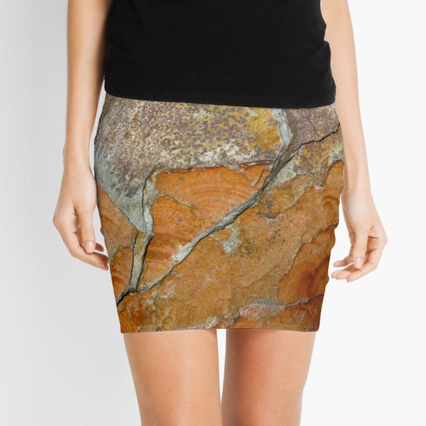 hot slate Mini Skirt