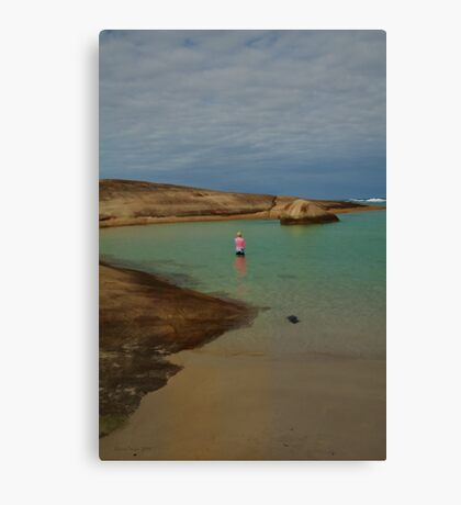 Lady in a Pink Top Canvas Print