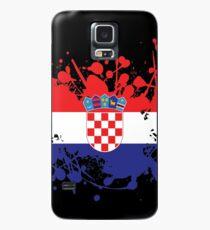 Kroatien Flagge Tinte Splatter Hülle & Klebefolie für Samsung Galaxy