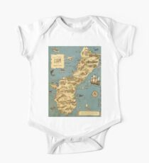 Vintage 1949 guam map - christmas gift for her One Piece - Short Sleeve
