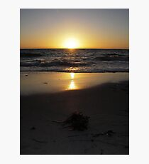 Golden glow over the horizon Photographic Print