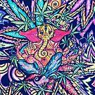 Psychedelic Lord Ganesha  by omni solaris