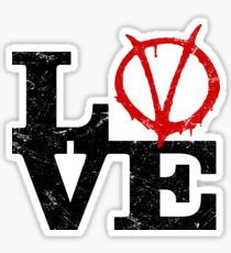 LoVe V for Vendetta Sticker