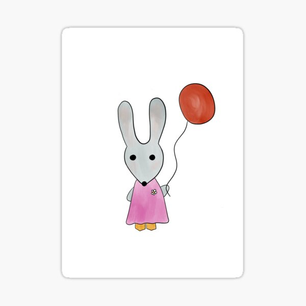 Bunny with balloon Sticker