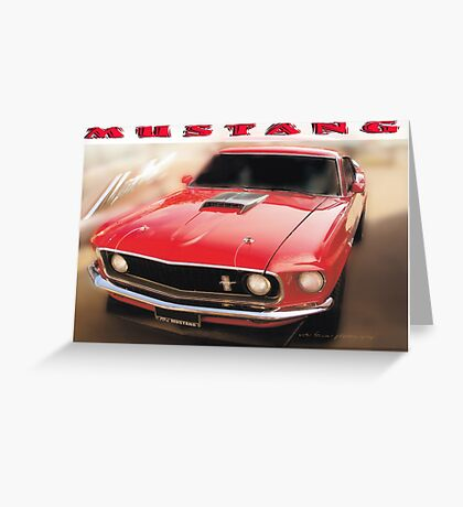 Mustang © White Border  Greeting Card