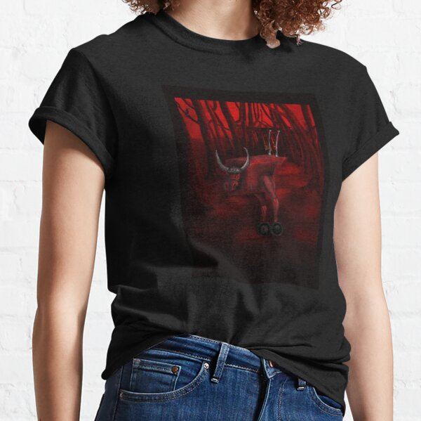 Red Bull in the red forest Classic T-Shirt
