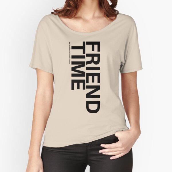 Friend Time Logo Black Portrait Relaxed Fit T-Shirt