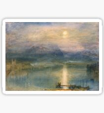 Moonlight on Lake Lucerne with the Rigi in the Distance by William Turner Sticker
