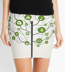 Musical tree9 Mini Skirt