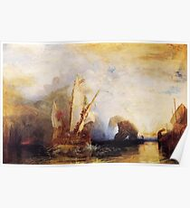 Ulysses Deriding Polyphemus (1829) by JMW Turner Poster