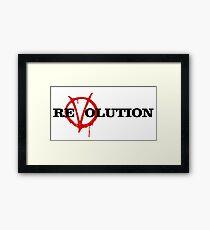 ReVolution V for Vendetta Framed Print