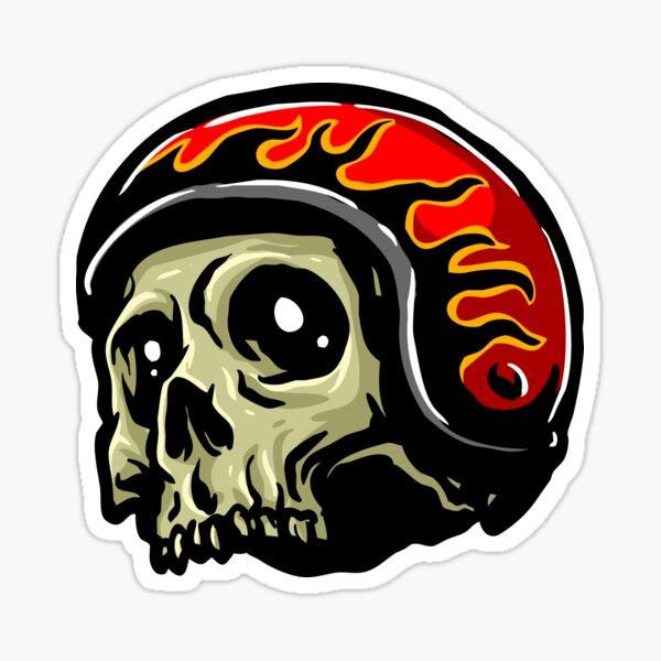 Cool Skull Helmet - Cool Helmet Stickers And Bikers Gift Sticker