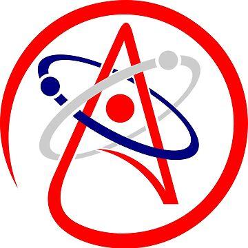 Atheist Atom Logo by zaknafien