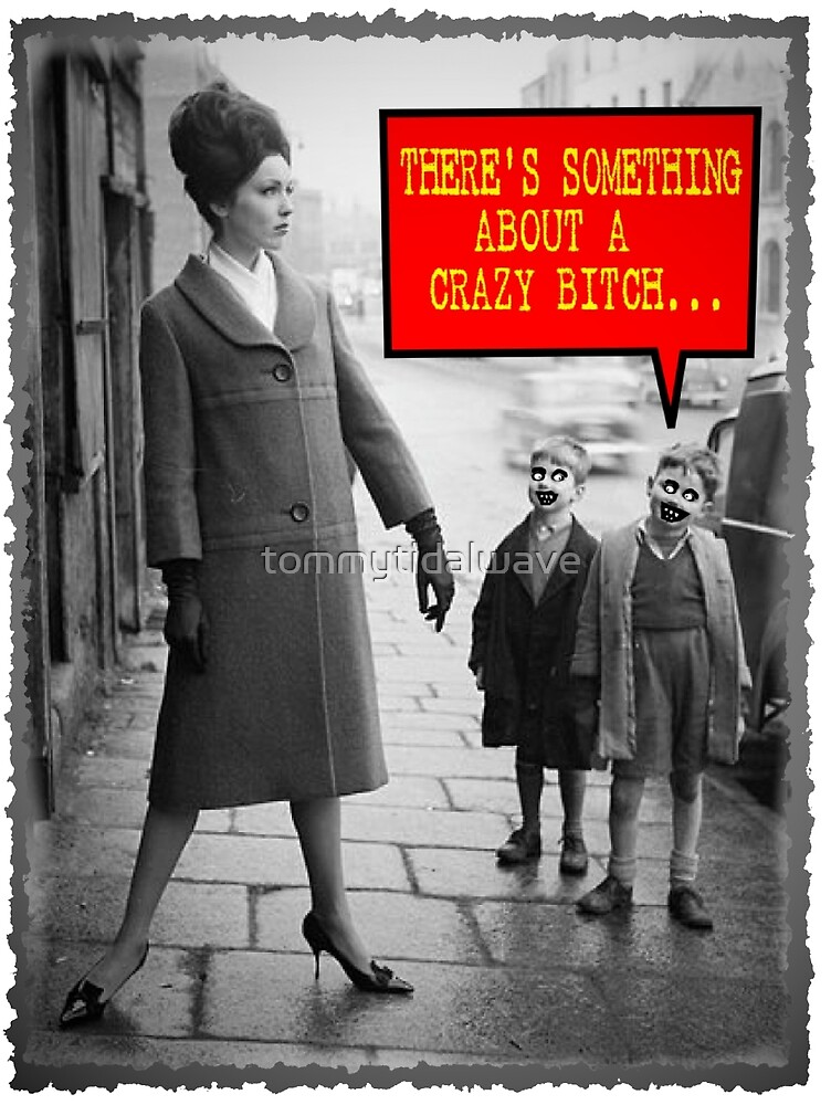 Vintage Funny - There is Something About a Crazy Bitch by tommytidalwave