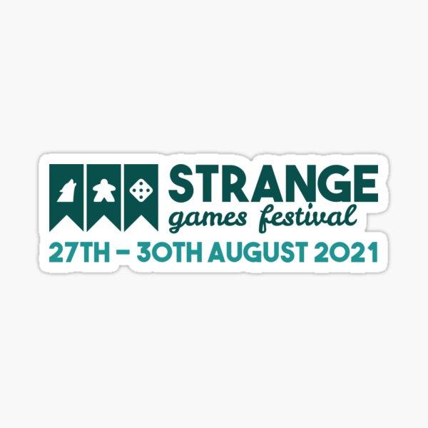 Strange Games Festival Logo (light) Sticker