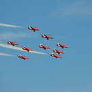 RAF Red Arrows by Carol Bleasdale