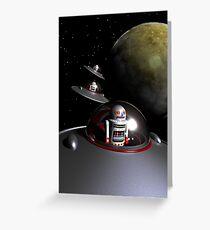 ROBOT - 7 Saucers Greeting Card
