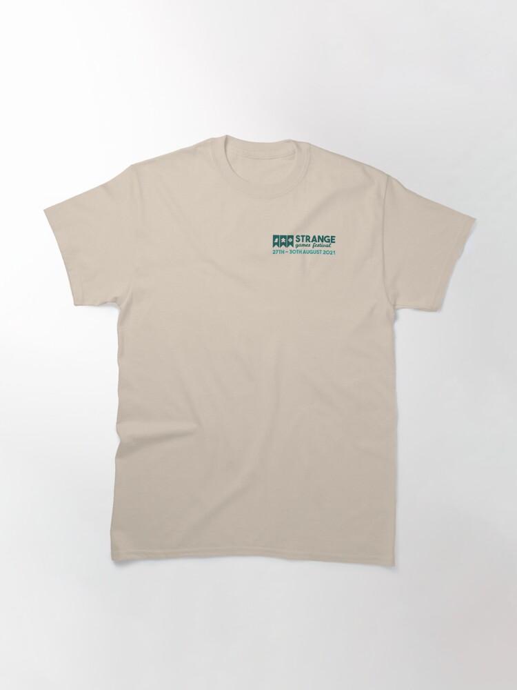 Alternate view of Strange Games Festival Logo Small (light) Classic T-Shirt