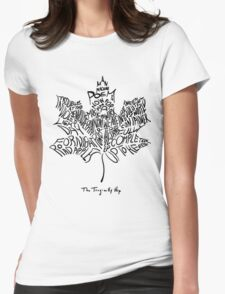 THE TRAGICALLY HIP - typography edition black summer tour 2016 Womens Fitted T-Shirt