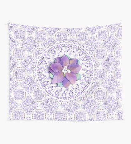 Victorian Flower Lace Wall Tapestry