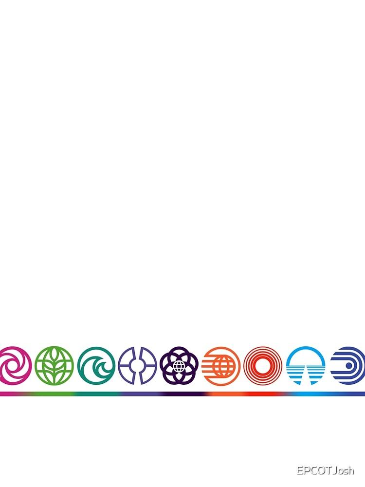 EPCOT Center Retro Future World Pavilion Logos by EPCOTJosh