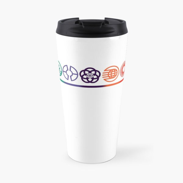 EPCOT Center Retro Future World Pavilion Logos Travel Mug