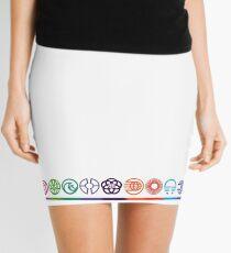 EPCOT Center Retro Future World Pavilion Logos Mini Skirt