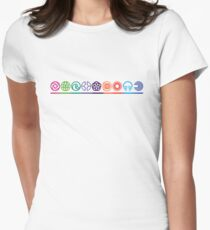EPCOT Center Retro Future World Pavilion Logos Women's Fitted T-Shirt