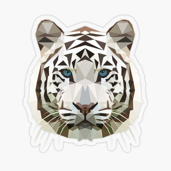 Tigre blanco Pegatina transparente
