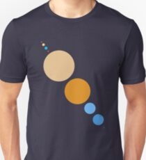 Planets To Scale (diagonal) Unisex T-Shirt