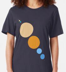 Planeten zu skalieren (diagonal) Slim Fit T-Shirt
