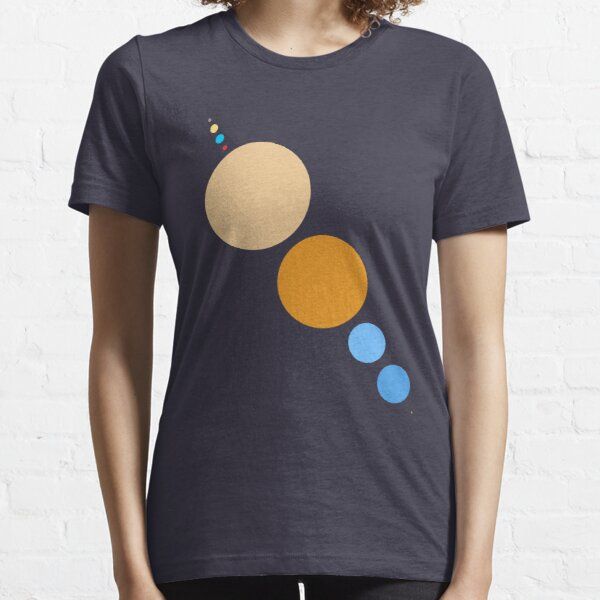 Planets To Scale (diagonal) Essential T-Shirt