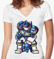 Transformers Soundwave Women's Fitted V-Neck T-Shirt