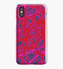 Red neon iPhone Case