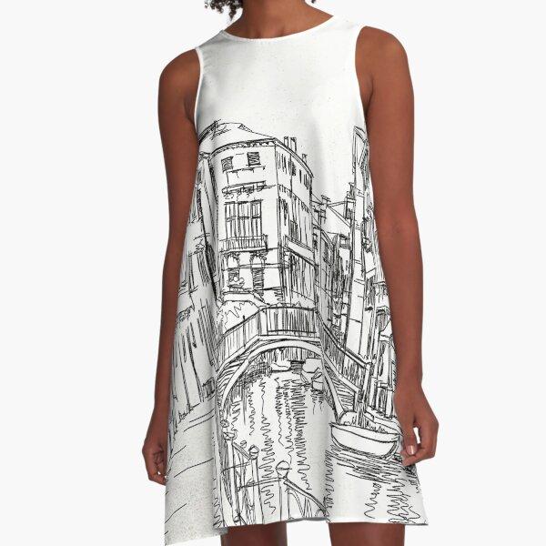Romantic City A-Line Dress