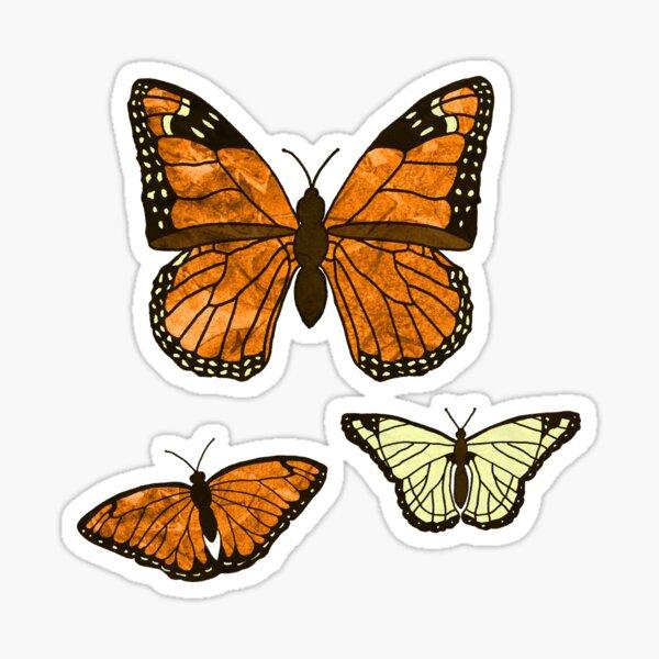 Butterflies on a Dark Forest Background Sticker