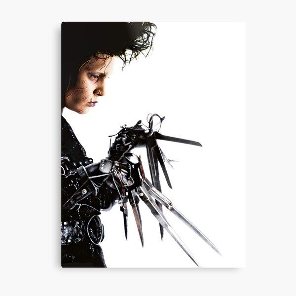 Edward Scissorhands Vintage Retro 90s Movie Film 1990s Johnny Depp Iconic Throwback Sci Fi Horror Goth Gothic Metal Print