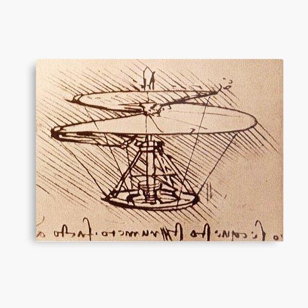 Aerial screw (Helicopter) Mechanical Design (P.M. - Vol. B - 83.v) Metal Print