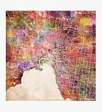 Melbourne map Photographic Print