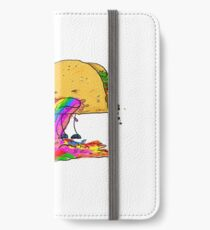 Taco puking a rainbow iPhone Wallet/Case/Skin