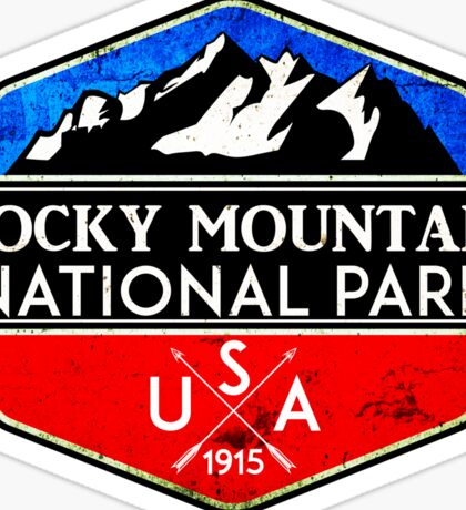 ROCKY MOUNTAIN NATIONAL PARK COLORADO MOUNTAINS HIKING CAMPING HIKE CAMP 2 Sticker
