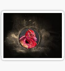 Gothic Male Red Dragon Sticker